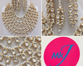 Necklace,Earrings and Tikka Set
