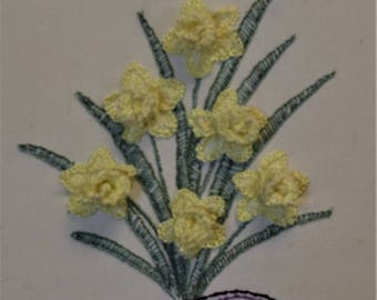 Brazilian Embroidery Finished Flowers