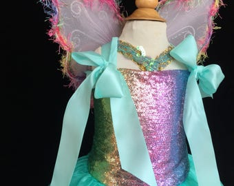 Girl Rainbow Dress, Rainbow Fairy Costume, Clown Costume, Rainbow Princess Dress, Unicorn Costume, Rainbow Unicorn Dress