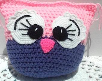 Crochet Owl Pillow - Bessie
