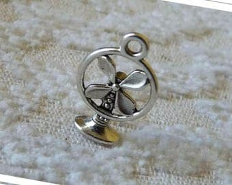 Fan Charms Pendants, Bracelet Charms, 3D Charms, Antique Silver Tone Fan Charm, Jewelry Supplies