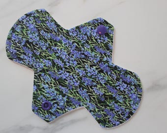 "6.75"" narrow liner, reusable cloth pantyliner - lavender"