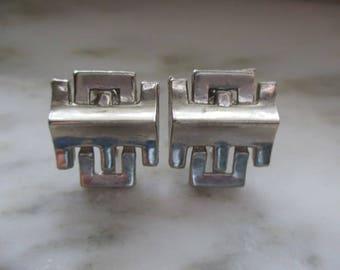 Vintage Jaycraft Silver Tone Screw Back Earrings