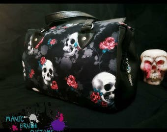 Skulls and Roses handbag/purse