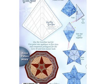 Jewel Box Gem Star companion Tool by Phillips fiber art, use for star appliqués