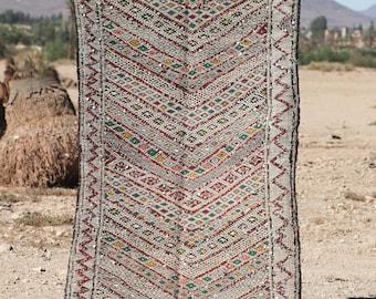 Tribal | kilim | Zemmour | Square rug | Moroccan rug | Berber rug | teppich | area rug H16