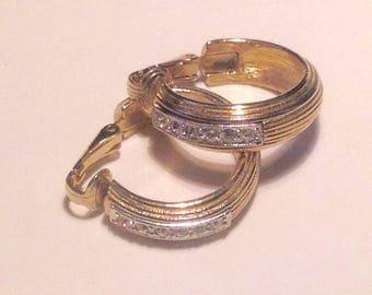 Vintage Sarah Coventry Goldtone Hoop Clip Earrings