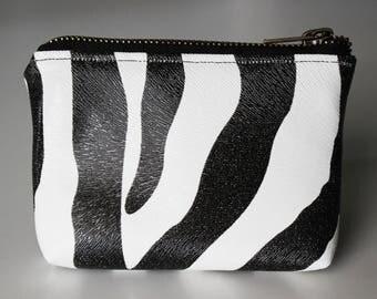 Wallet / faux leather Zebra card holder