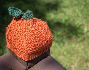 Pumpkin Crochet Infant Baby Toddler Hat