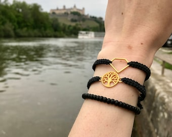Bracelet with golden tree of life