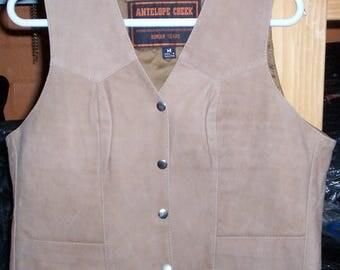 1227BRN Woman Vest