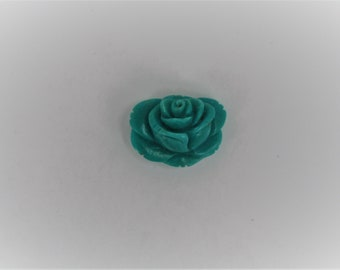 Carved Turquoise Rose (stabalized)