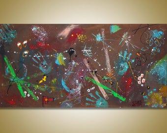 SC-art - abstract & modern / acrylic painting / 60x120cm