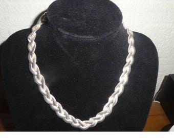 Vintage Solid Silver 925 Snake Type Necklace