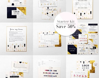 Color Street Bundle, Color ST Marketing Kit, 10 products included, ColorStreet Starter Package, Business Cards Bundle, Personalized