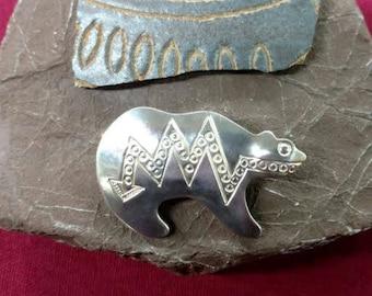 Native American Elwood Reynolds Bear Pin