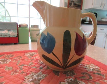 Vintage Tulip Watt Pottery #16 Pitcher
