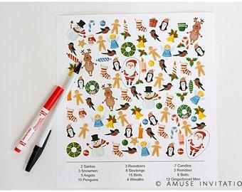 Christmas i-Spy Game, Santa ispy Game, Christmas Printables, Christmas Game, Christmas Printable Game, Games for Teachers, printable ispy