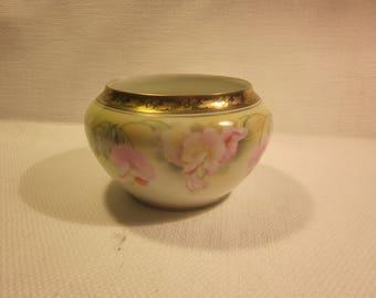 Antique RS Prussia powder jar, RS Prussia bowl