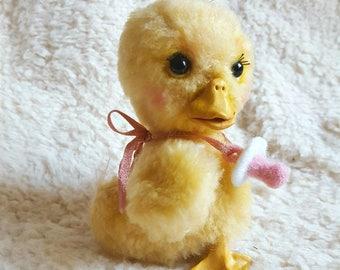 Little Dora Duckling handmade ooak mohair artist teddy duck baby bird