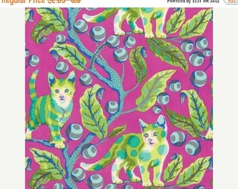 SUMMER SALE Tula Pink, Tabby Road, Disco Kitty, Berry Bird, 100% Quilting Cotton Fabric, Choose your Cut