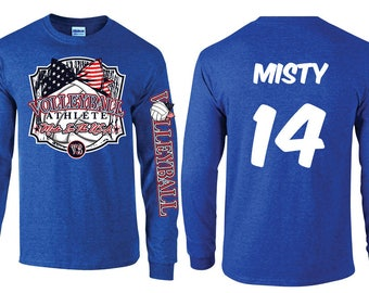 Made in the USA - Volleyball Long Sleeve T-shirt
