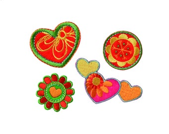 Patch/Ironing-Set butterfly flower-colorful-various sizes-by catch-the-Patch ® patch appliqué applications for ironing application patches patch