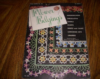 Vintage Flower Edgings by American Thread Company, Star Book No. 65, Crocheted