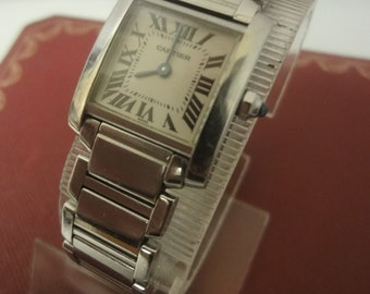 Ladies Cartier Tank Francaise (2300) with Cartier Box in super condition