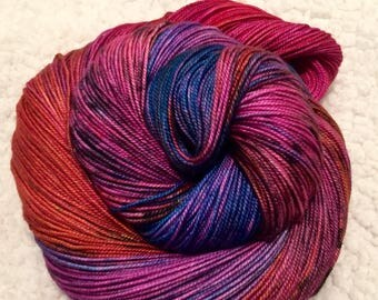 Hand dyed yarn 463 yards 4 ply