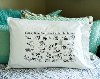 My Sleepytime Find the Letter Pillowcase