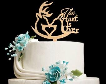 Deer cake topper,deer head,hunt is over wedding,hunt is over cake topper,The hunt is over,hunting cake topper,die jagd ist vorbei,5312016