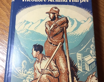 Windy Island:  A Story of Adventure in New Zealand by Theodore Acland Harper - Vintage Hardcover Book with Dust Jacket