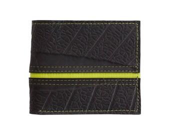 Bifold Non Leather Wallet - Inner Tube Vegan Wallet - Unique Handmade Wallet