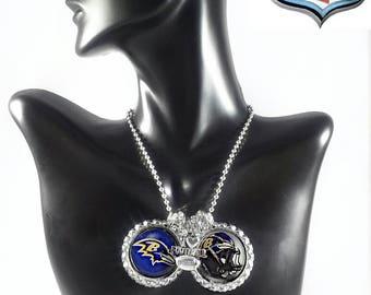 Baltimore Ravens bottle cap necklace