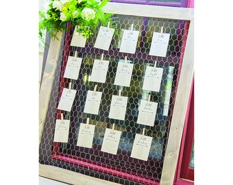 Rustic Chicken Wire Frame/Wall Decor