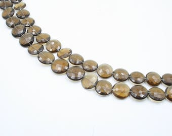 Cognac Quartz Faceted Beads