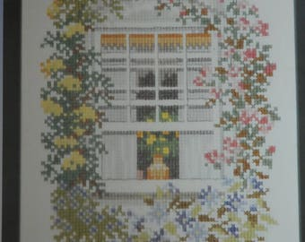 """Kit counted stitches """"flowery window"""""""
