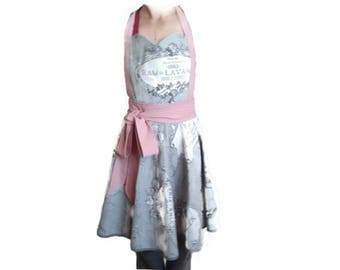 Handmade romantic vintage apron