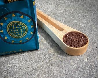 Wooden Coffee Scoop, Tablespoon, Kitchen Utensil, Maple Spoon