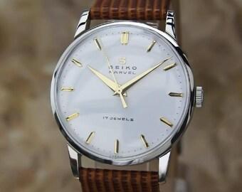 Seiko Marvel 1950s Manual Stainless Steel Mens Vintage Japanese Dress Watch EE9
