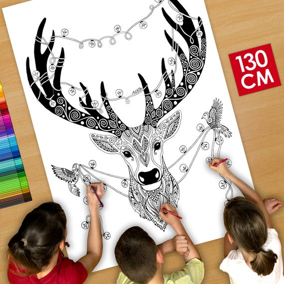 GIANT Coloring poster (50...