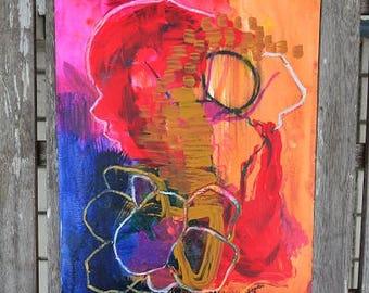 Abstract art, original art, wall painting, mixed media, wall mixed media art, modern,