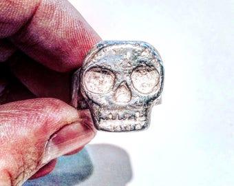 Mens Skull Ring, Skull Ring, Sterling Silver Skull Ring, Biker Ring, Rocker Ring ,biker jewelry ,.925 , Johnny Depp Jewelry  Lugdun Artisans