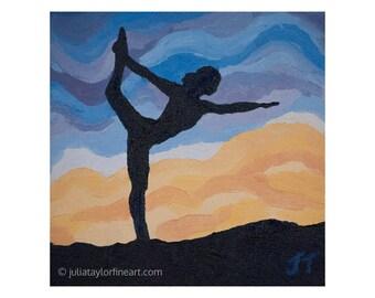 Yoga Artwork, Yoga Art Painting, Yoga Lover Gift, Yogi Gift, Yoga Studio Decor, Yoga Wall Art, Yoga Studio Art, Yoga Art for Bedroom
