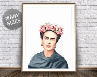 Frida Kahlo Poster Frida Art Deco Boho Prints Mexican Art Frida Print Poster Vintage Frida Kahlo Wall Art Frida Kahlo Painting Mexican Print