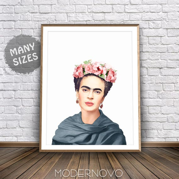frida kahlo poster frida art deco boho drucke mexikanischen. Black Bedroom Furniture Sets. Home Design Ideas