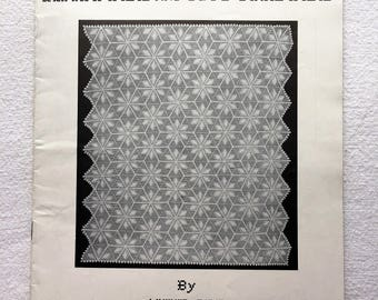 Bedspreads Knitted and Crocheted By Anne Orr. Book no. 11. Vintage Book. Magazine. Pattern. Instructions. 1948.