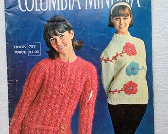 Vintage Ladies Knit Crochet Book Magazine Pattern Instructions 1950's Sweater Jacket Coat