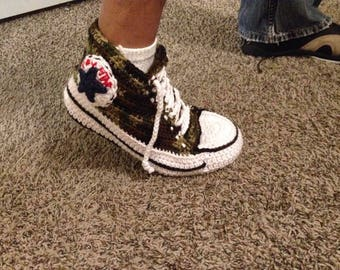 Crochet Converse All Star Slippers